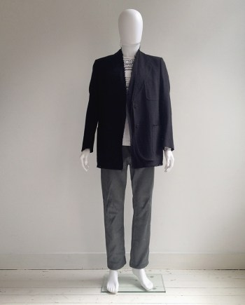 Maison Martin Margiela black covered blazer — fall 2001
