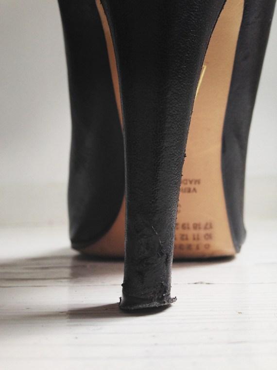 Maison Martin Margiela black tabi boots with stiletto heel 38 6663 copy