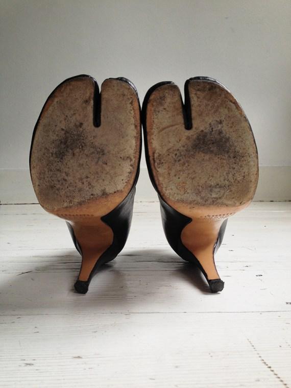 Maison Martin Margiela black tabi boots with stiletto heel 38 6670 copy