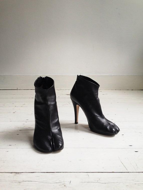 Maison Martin Margiela black tabi boots with stiletto heel 38 6677 copy