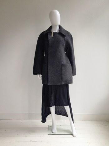 Maison Martin Margiela grey flat coat — spring 1998