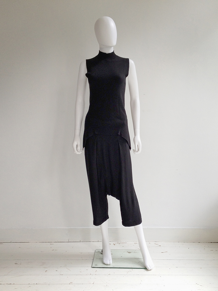 Rick Owens FAUN black drop crotch trousers — spring 2015
