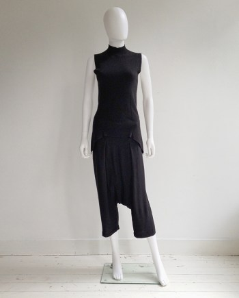 Rick Owens FAUN black drop crotch trousers — spring 2015