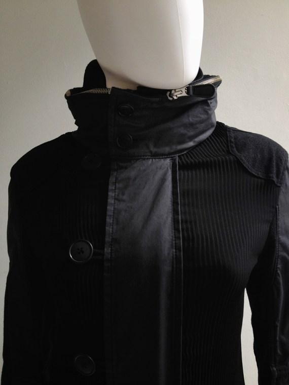 Junya Watanabe blue and black long coat — fall 2010