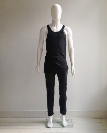Boris Bidjan Saberi black infinity double tank top