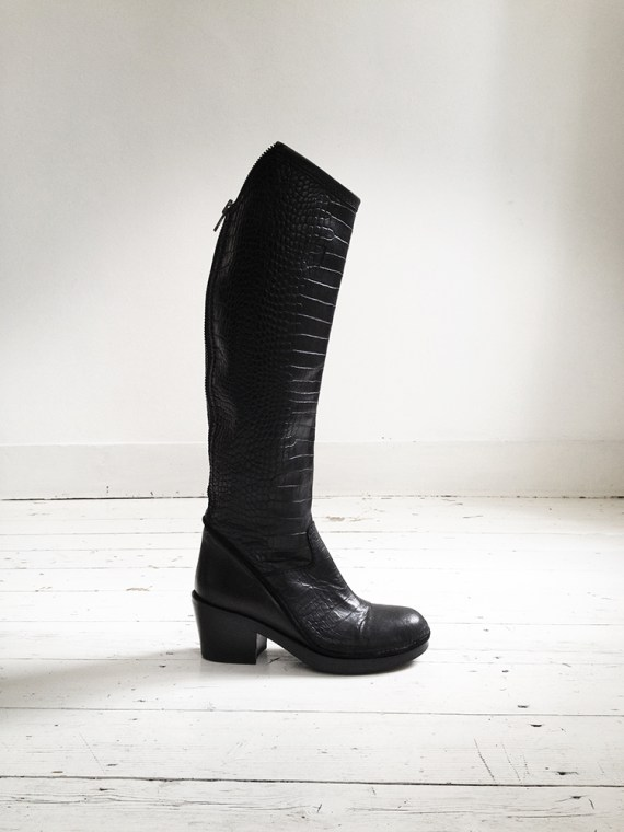 Haider Ackermann black crocodile boots (39) — fall 2011