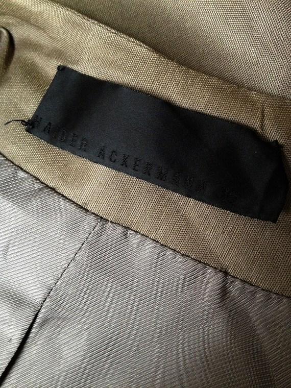 vintage Haider Ackermann bronze draped blazer