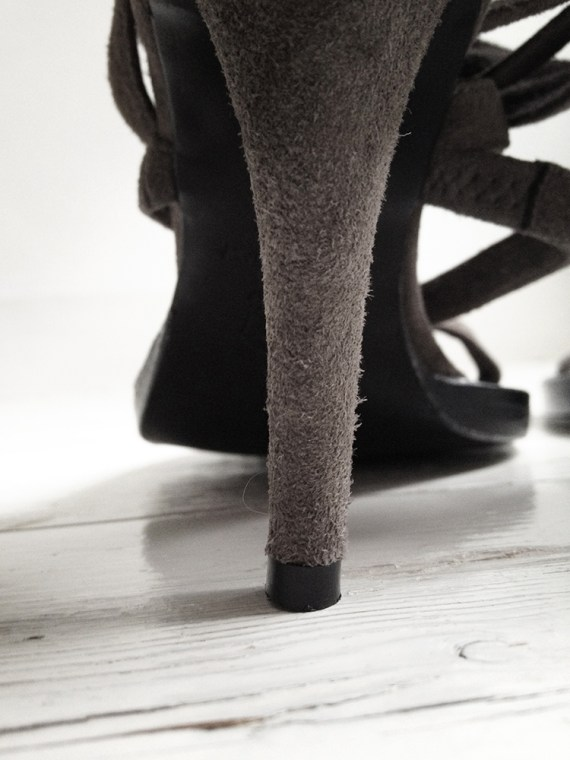 Haider Ackermann brown toe sandals (36) — fall 2007