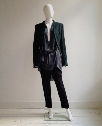 Haider Ackermann green emerald blazer — fall 2011