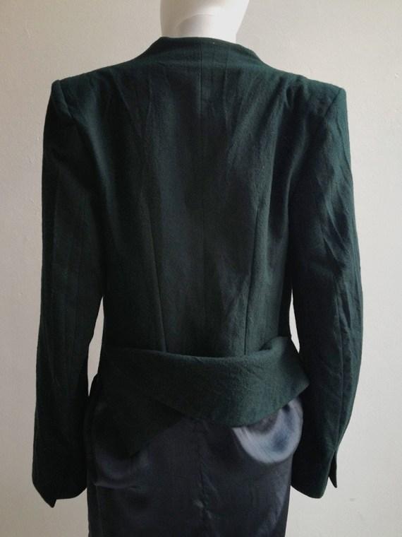 Haider Ackermann green emerald blazer — fall 2011