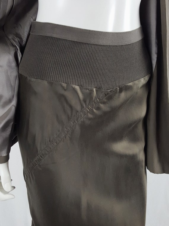 Rick Owens ISLAND brown twisted mermaid skirt — spring 2013