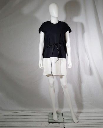 Rick Owens NASKA black and white cocoon dress runway spring 2011