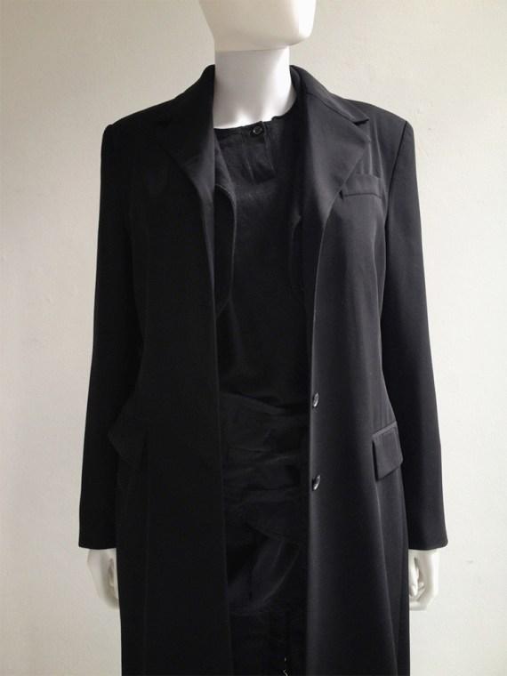 Ann Demeulemeester black maxi coat — 90s