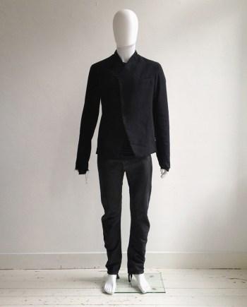 Lost & Found Ria Dunn black raw minimalist blazer