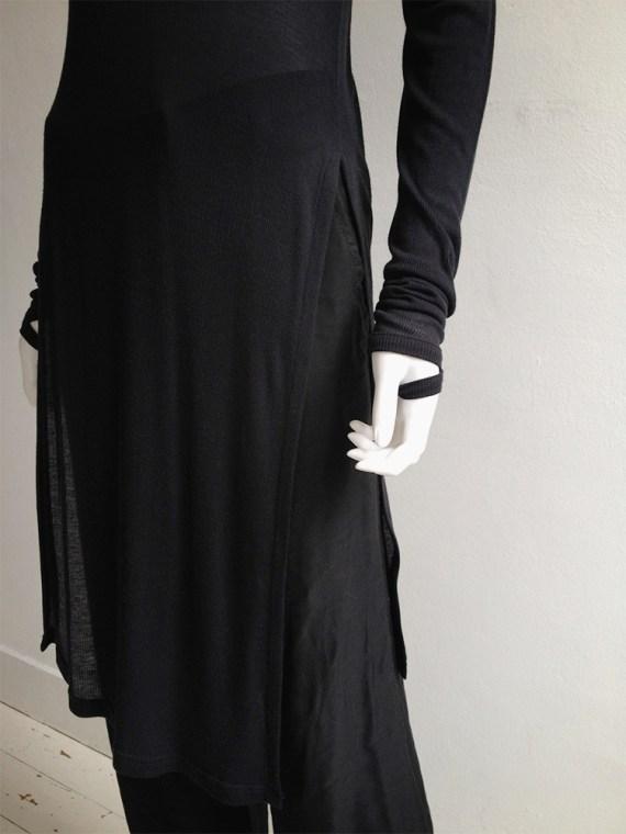 Ann Demeulemeester black long jumper with wrist straps 5058