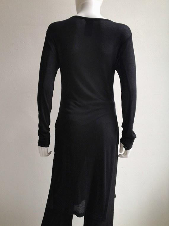 Ann Demeulemeester black long jumper with wrist straps 5071
