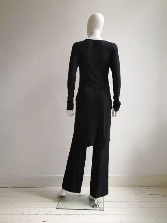 Ann Demeulemeester black long jumper with wrist straps 5077
