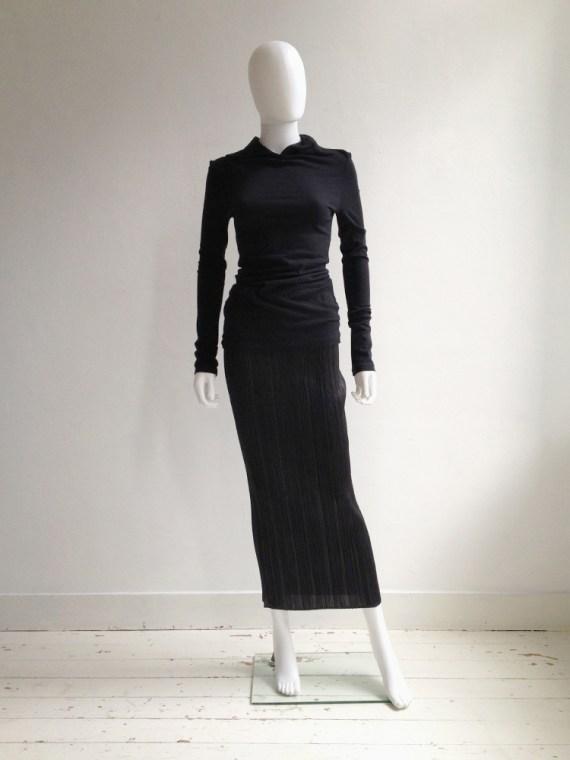 Issey Miyake Pleats Please black maxi skirt   shop at vaniitas.com