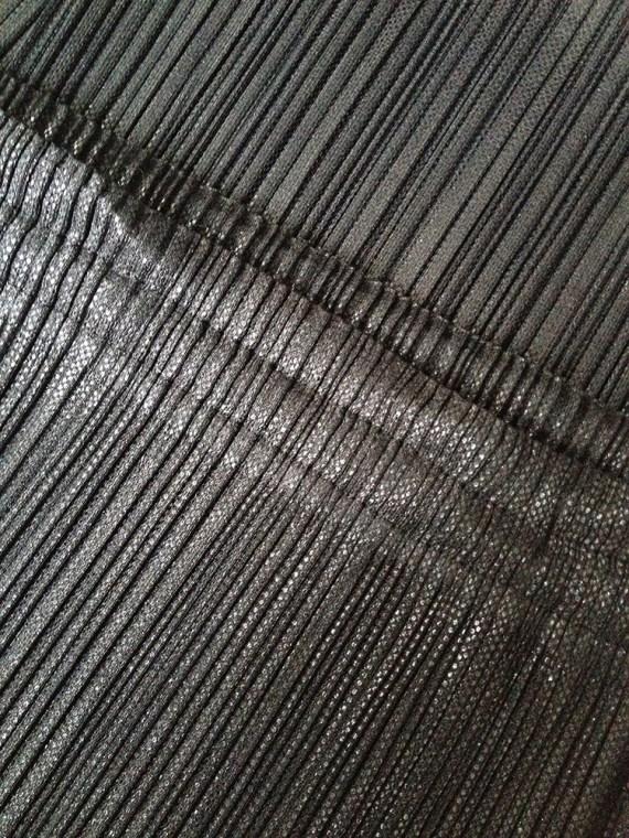 Issey Miyake Pleats Please black maxi skirt