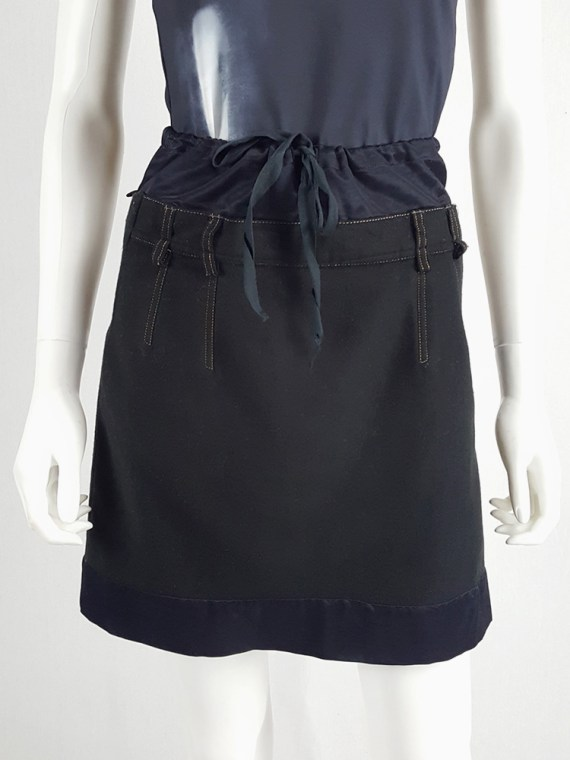 Maison Martin Margiela artisanal black and blue mini skirt 104054