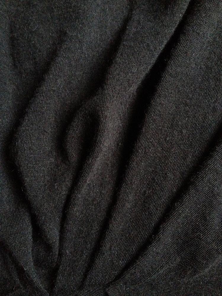Rick Owens Lilies grey gathered longsleeve dress