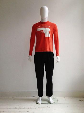 Walter Van Beirendonck WaLT red 'holy gun' t-shirt — 1994