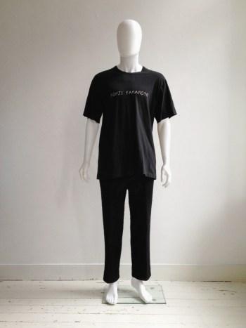 Yohji Yamamoto brand name t-shirt — 80s