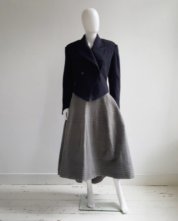 Ann Demeulemeester dark blue regency coat