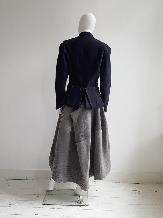 Ann Demeulemeester dark blue regency coat _120705