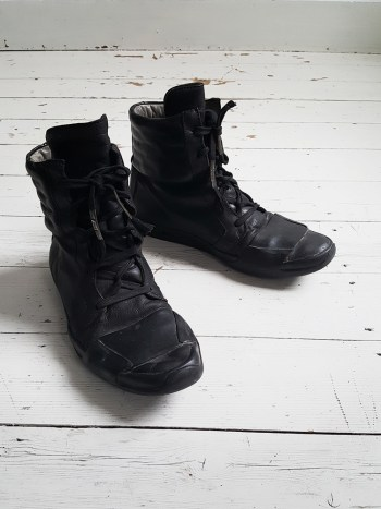 Boris Bidjan Saberi black high-top sneakers