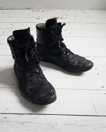 Boris Bidjan Saberi black high-top sneakers