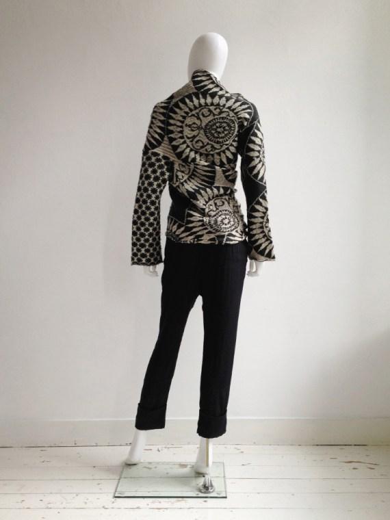 Dries Van Noten black and white deformed jumper