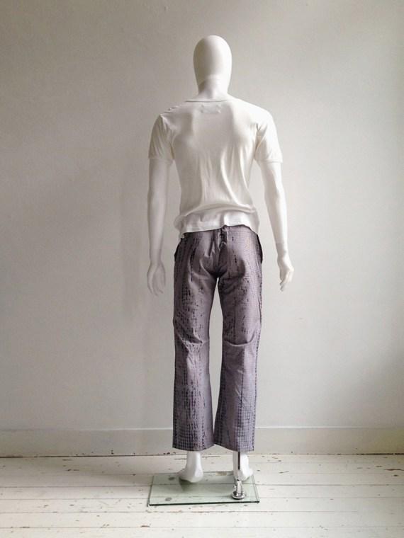 Maison Martin Margiela artisanal pied de poule printed trousers spring 2000 archive 078