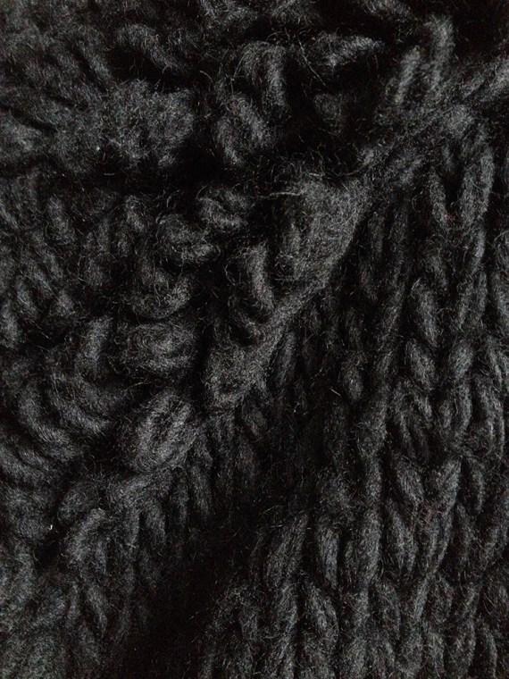 Yohji Yamamoto black 3D knitted cardigan 9962