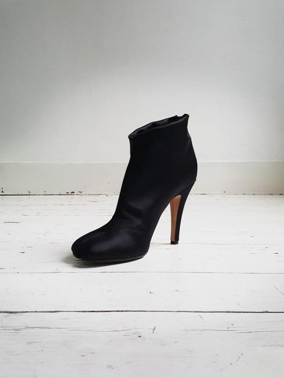 Maison Martin Margiela black satin tabi boots 3010