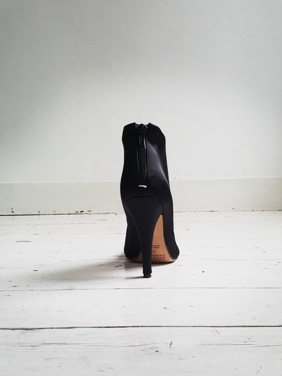 Maison Martin Margiela black satin tabi boots 3050
