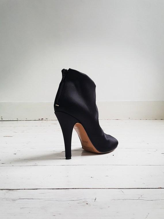 Maison Martin Margiela black satin tabi boots 3059