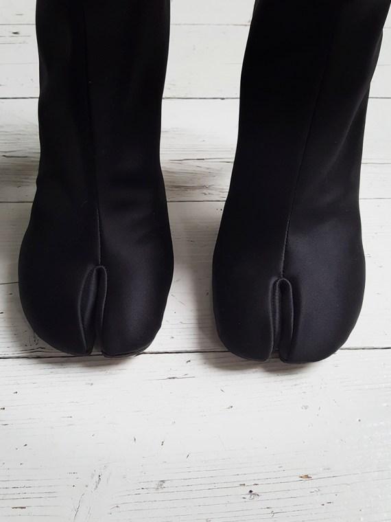 Maison Martin Margiela black satin tabi boots 3117