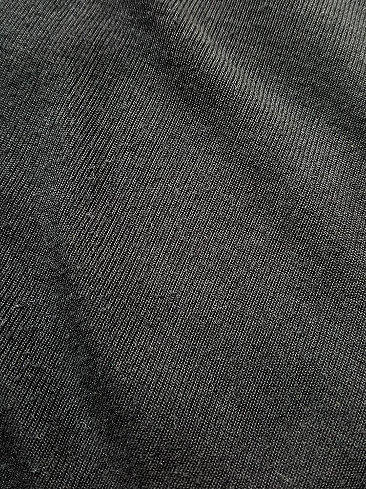 Maison Martin Margiela black flat t-shirt — spring 1999