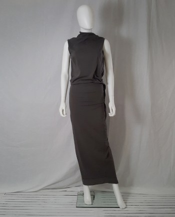 Rick Owens DRKSHDW brown maxi dress with open back