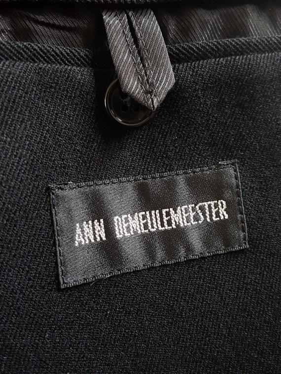 vintage Ann Demeulemeester black blazer with cut panel — fall 2011