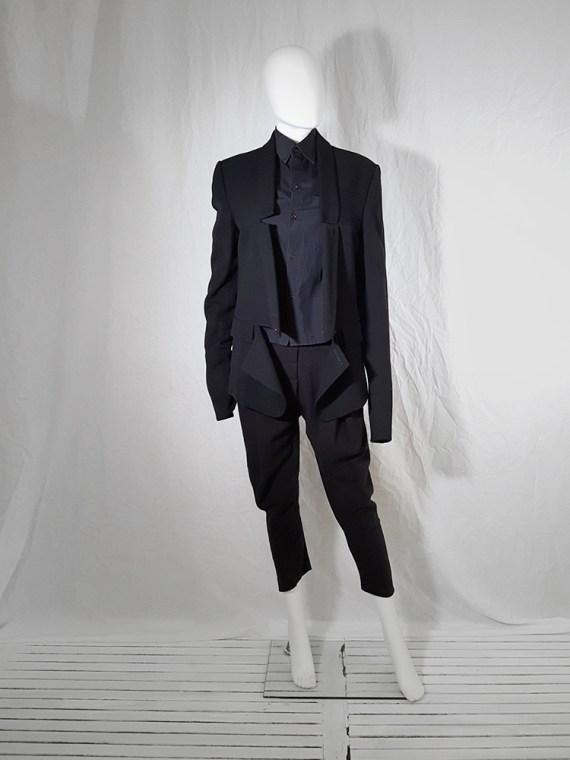 Ann Demeulemeester black blazer with cut panel runway fall 2011 _173605