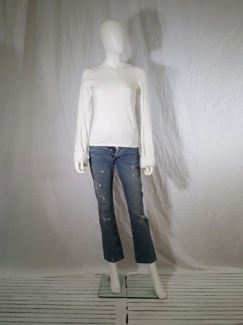 Helmut Lang painter jeans with white paint
