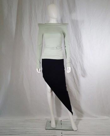 Maison Martin Margiela black asymmetric cut skirt
