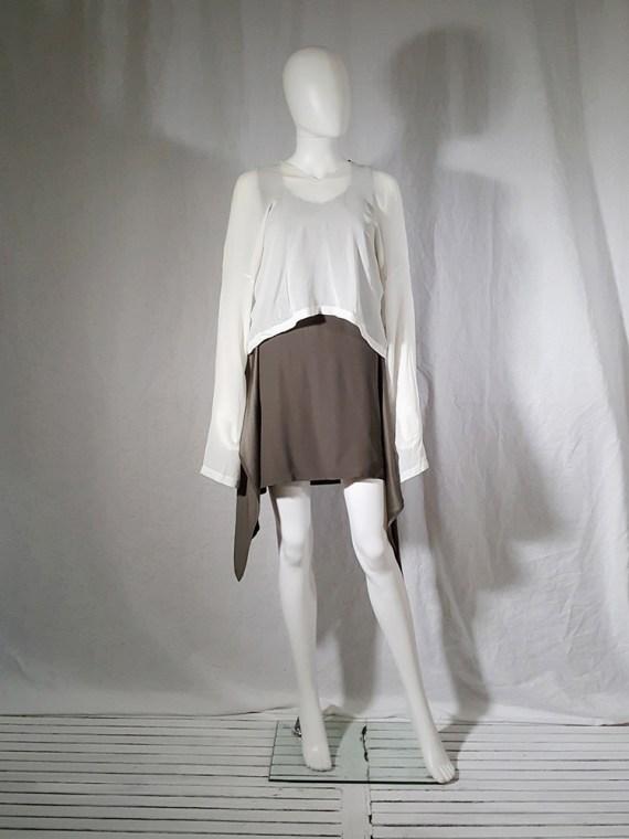 Ann Demeulemeester white silk blouse with back fringes 181001