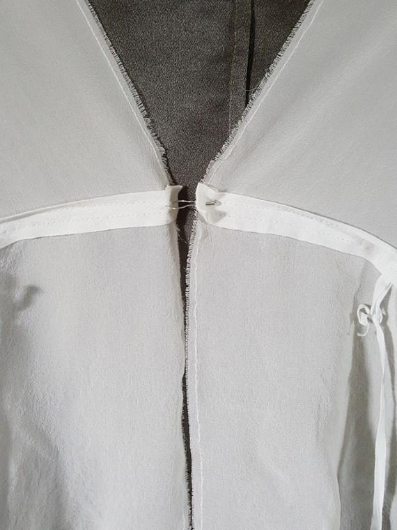 vintage Ann Demeulemeester white silk blouse with back fringes