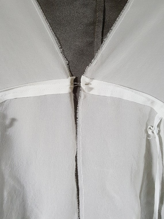 Ann Demeulemeester white silk blouse with back fringes 181250