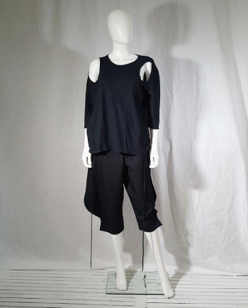 vintage Ann Demeulemeester black jumper with extra armholes — spring 1999