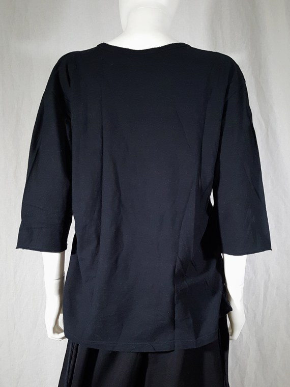 archive Ann Demeulemeester black jumper with extra armholes spring 1999 180419