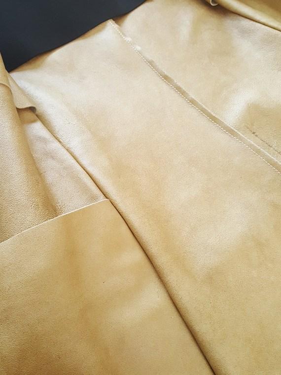 archive Maison Martin Margiela beige leather flat jacket spring 1998 141520